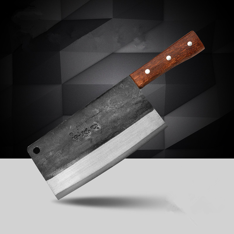 Free Shipping DENG Forged Gotten Traditional Carbon Steel Knife Kitchen Chef Slicing Knife Household Multifunctional Knives