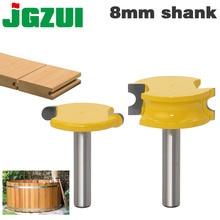 2 個 8 ミリメートルシャンクカヌーフルートとビーズルータービットセット木工タングステンコバルト合金木材ほぞフライスカッタービットツール