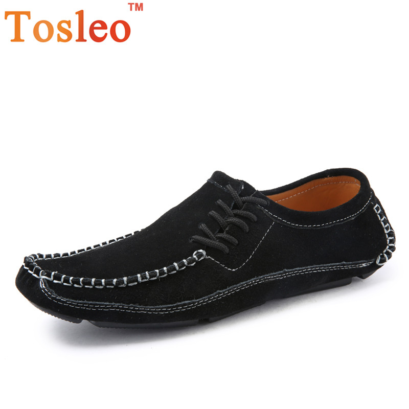 38-47 Handmade Men Shoes Casual Breathable Leather Shoes Men Big Size Casual Shoes Men