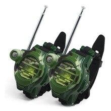 2 шт игрушка рация детская семь-в-одном многоцелевая моделирование камуфляж военные часы рация