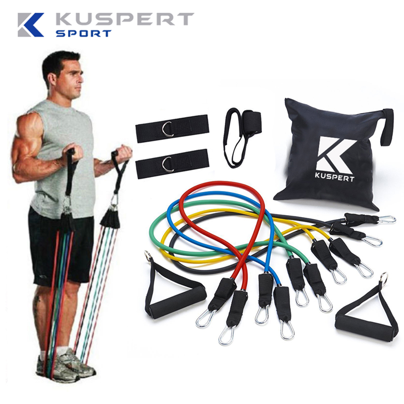 Exercise Bands Door Anchor: Kuspert Resistance Band Set With Door Anchor, Ankle Strap