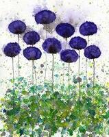 El yapımı oturma odası metal çiçekler için dekoratif resimler duvar sanatı çiçek yağlıboya çocuk odası için tuval üzerine yağlıboya