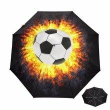 Полный автоматический складной зонт дождь для женщин УФ анти защита от ультрафиолета зонтик Женский черное покрытие солнечный и дождливый футбол Зонты