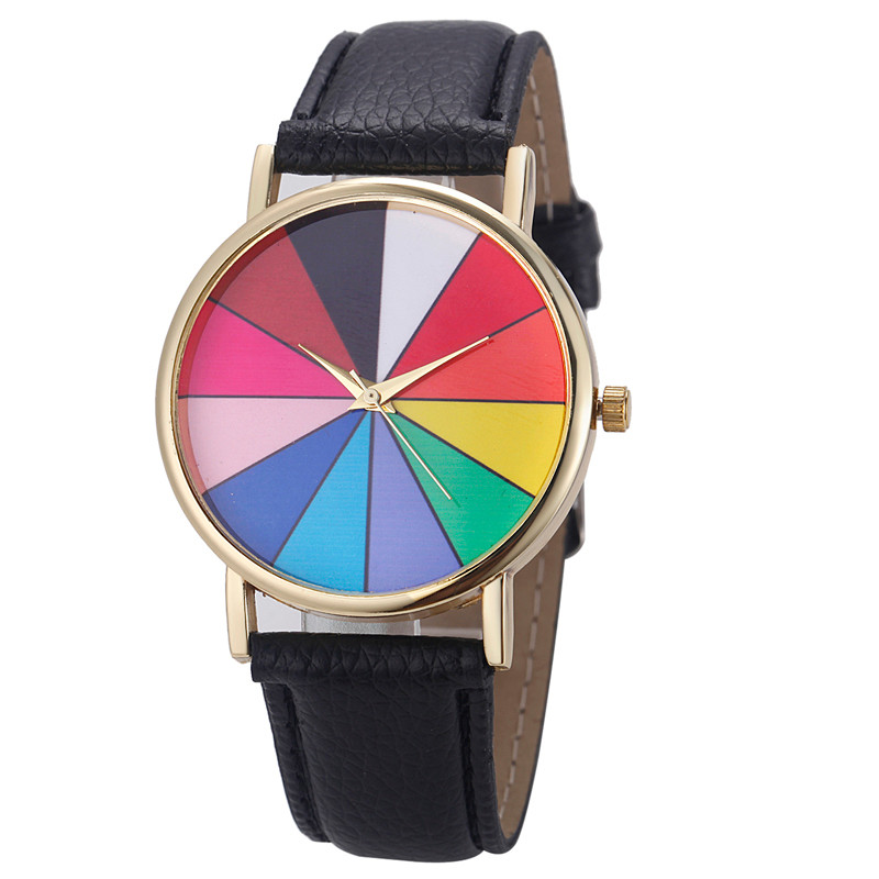 Watch relogio masculino erkek kol saati Women Watches mujer  Unisex Geometry Analog Leather Quartz Wrist Hours Clock julius quartz watch ladies bracelet watches relogio feminino erkek kol saati dress stainless steel alloy silver black blue pink