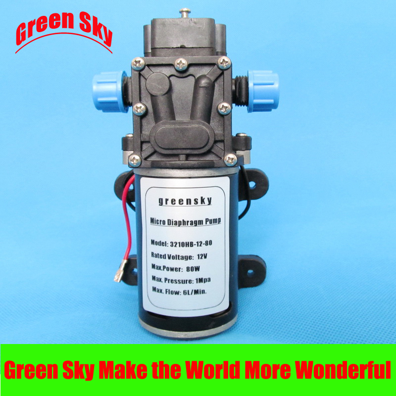 8L/MIN 80W High Pressure high head  12v dc diaphragm pump