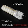 G12 led 10W real power 108LEDs 360 Degree SMD2835 12W Warm White/Cool White AC85-265V LED Corn Light Lamp Bulb