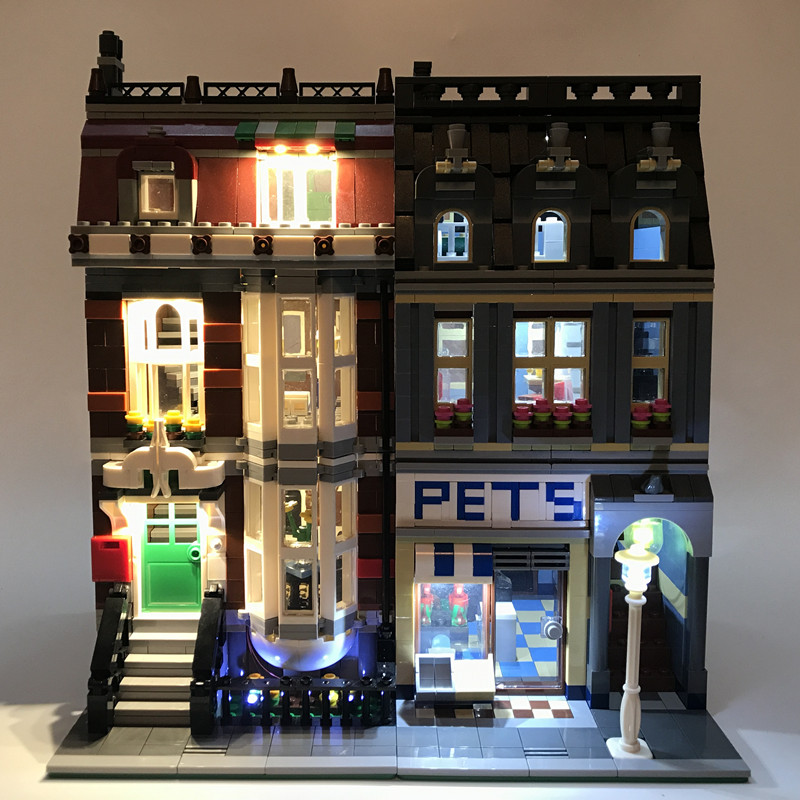 Led Lights Kit For <font><b>Lego</b></font> Pet Shop Supermarket House Toy Building Street 10218 City Compatible 15009 Blocks Creator City Street image
