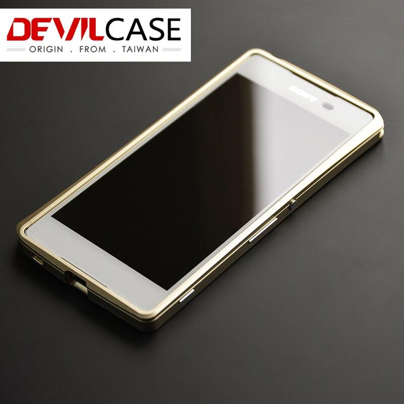 imágenes para Original DEVILCASE Para SONY Z3 + CNC de Corte de Metal Parachoques Para XPERIA Z3 Plus/Z4 Accesorios de Protección