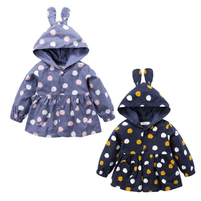 a598121b0 Winter Baby Girls Coats Jackets Infants Outerwear Cotton Hooded ...