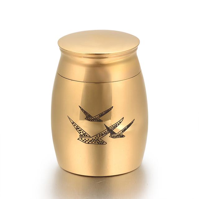 Golden Birds Memorial Urn