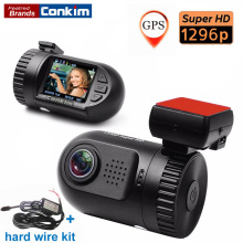 Holder conkim Mini 0805 Full HD Video Recorder Cámara Del Coche DVR de Ambarella A7LA50 1080 P 1296 P SOS + g-sensor GPS ADAS HDR w/Kit De Alambre Duro
