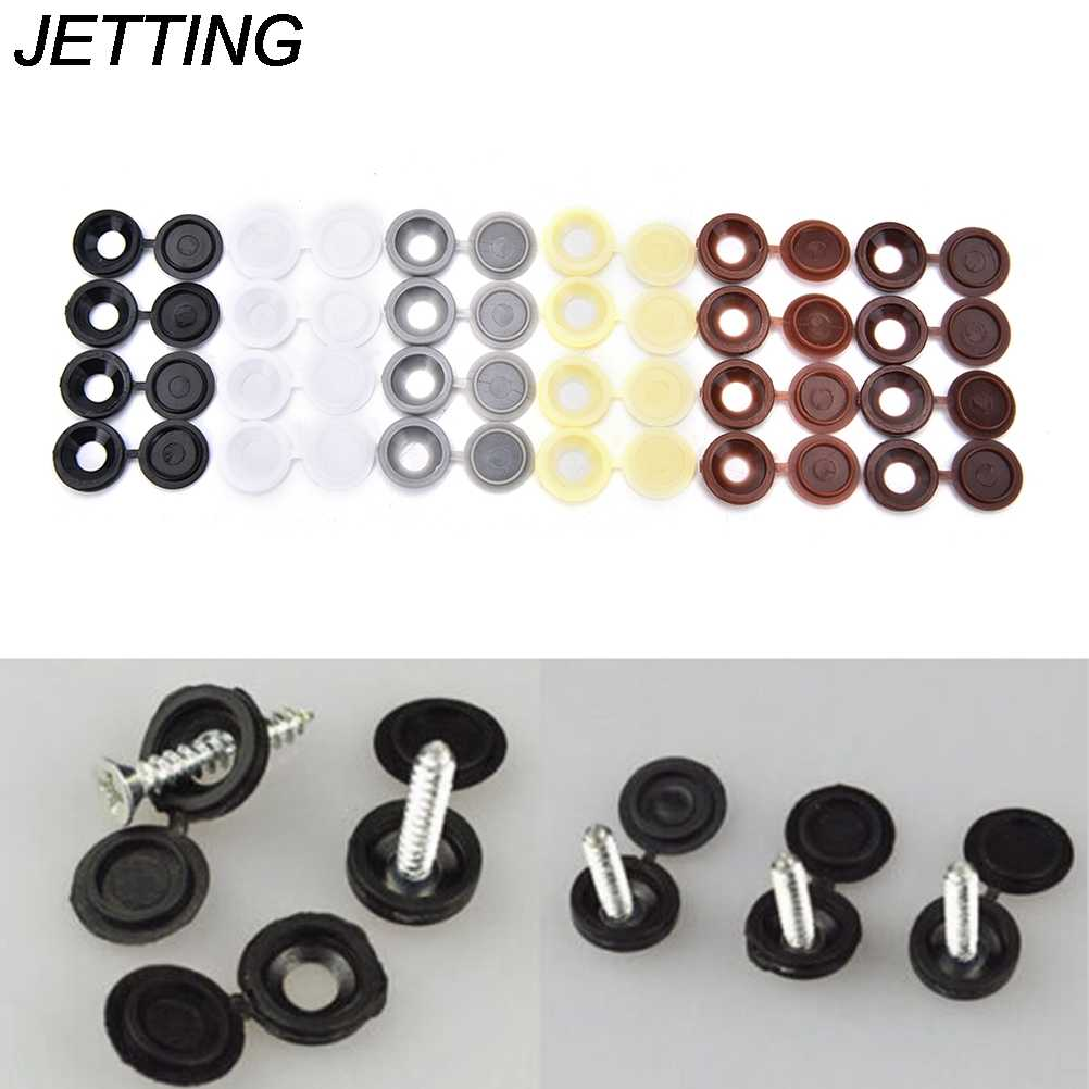 10pcs/lot Hinged Plastic Screw Cover Cap Fold Snap Caps For Car Home Furniture Decor 6 Colors Wholesale low price
