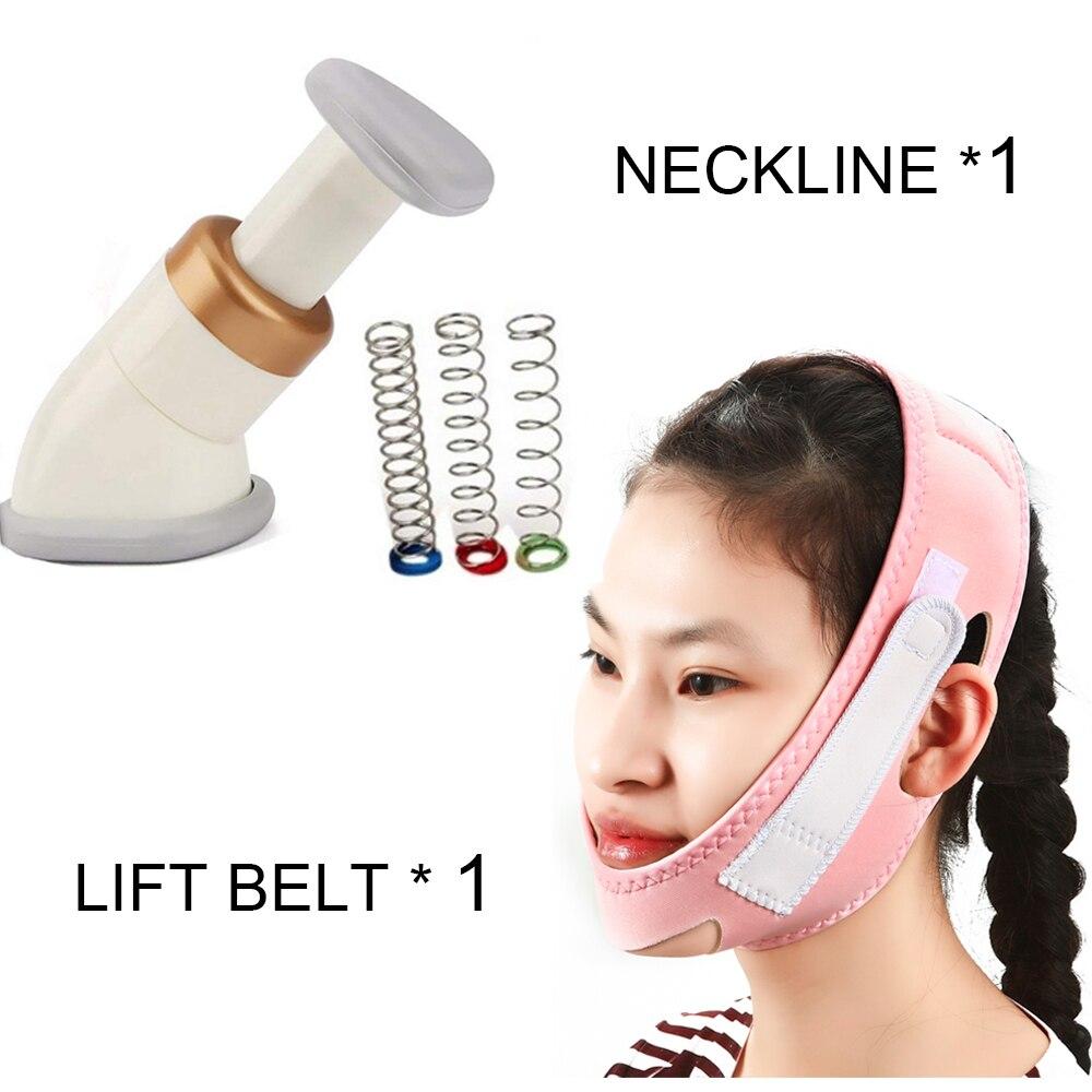 Mini queixo massagem pescoço mais magro decote exercitador reduzir dupla fina remoção do enrugamento + face lift cinto