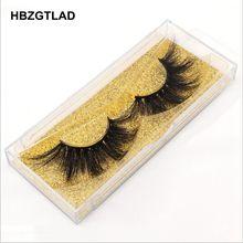 Hbzgtlad 100% vison cílios comprimento extra 22 25mm cílios 3d cílios grandes dramáticos volumn cílios crisscross cílios postiços l95