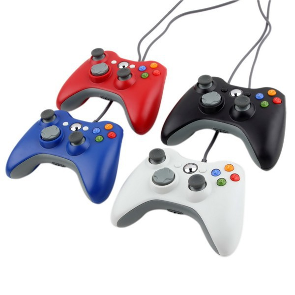 Free shipping 4 Corlor USB Wired Game Controller Joypad Joystick For Xbox for 360 Slim Accessory PC For Windows 7 8