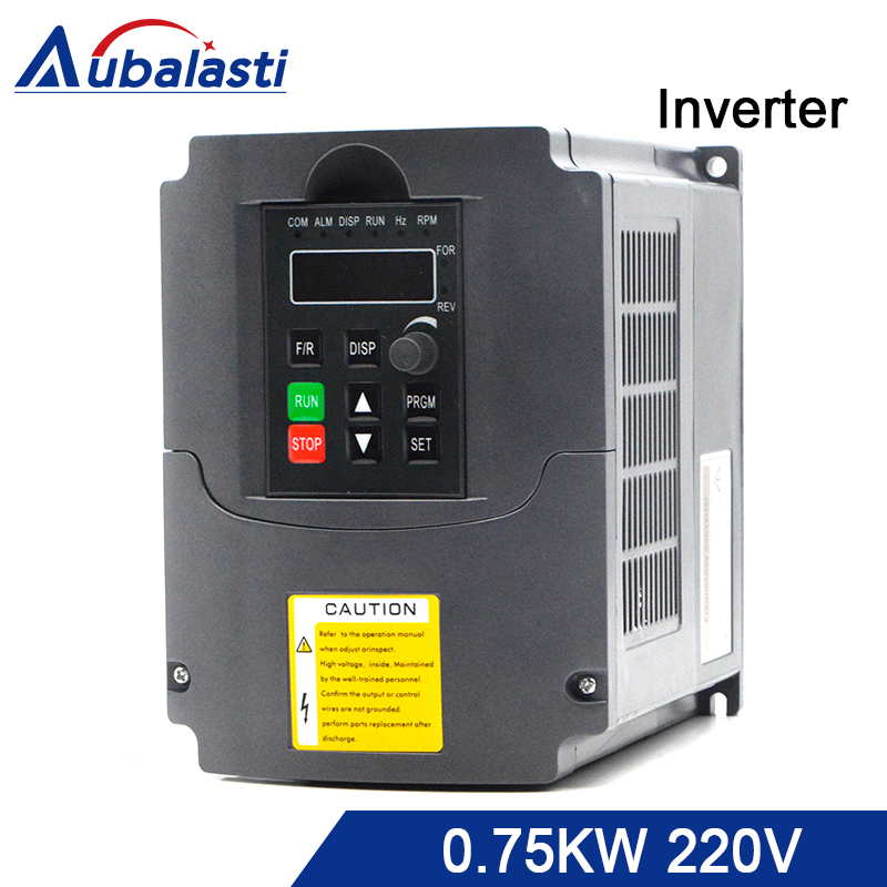 aubalasti Inverter 0.75kw 220V 750w Frequency Converter Single Phase input and 3 Phase output 400 Hz 7a use for CNC machine