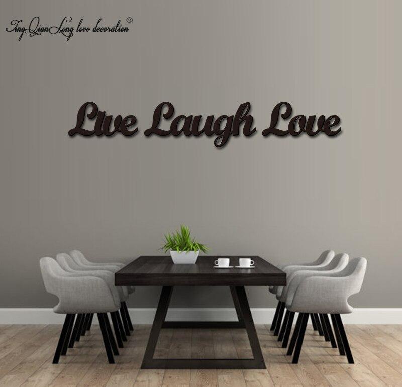 Wood 3D Cutout Live, Laugh, Love set Home decorationWood 3D Cutout Live, Laugh, Love set Home decoration