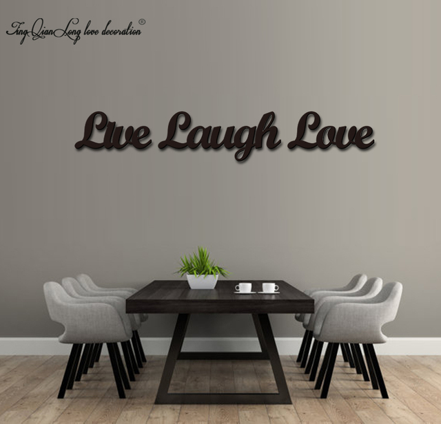 Wood 3D Cutout Live Laugh Love Set Home Decoration
