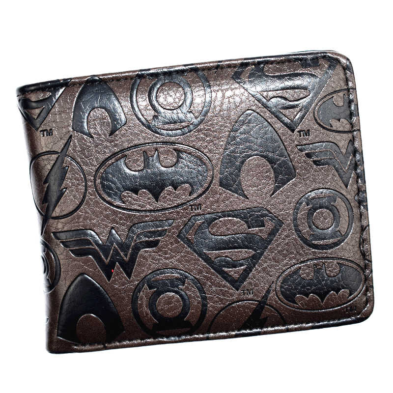 FVIP New Arrival DC Wallet Wonder Women/Joker/Batman/Superman/The Flash Wallets for Young With Coin Pocket Men's Purse