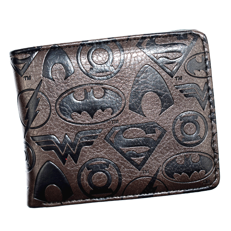New Arrival DC Wallet Wonder Women/Joker/Batman/Superman/The Flash Wallets For Young With Coin Pocket Men's Purse