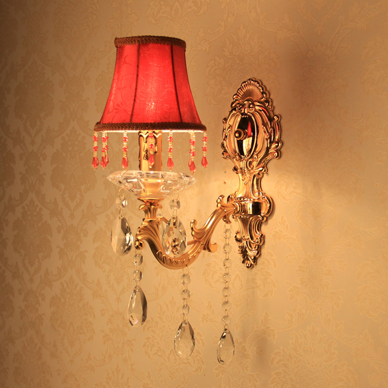 ФОТО interior lamp american wall lights dimmable led wall light antique bedside lamps