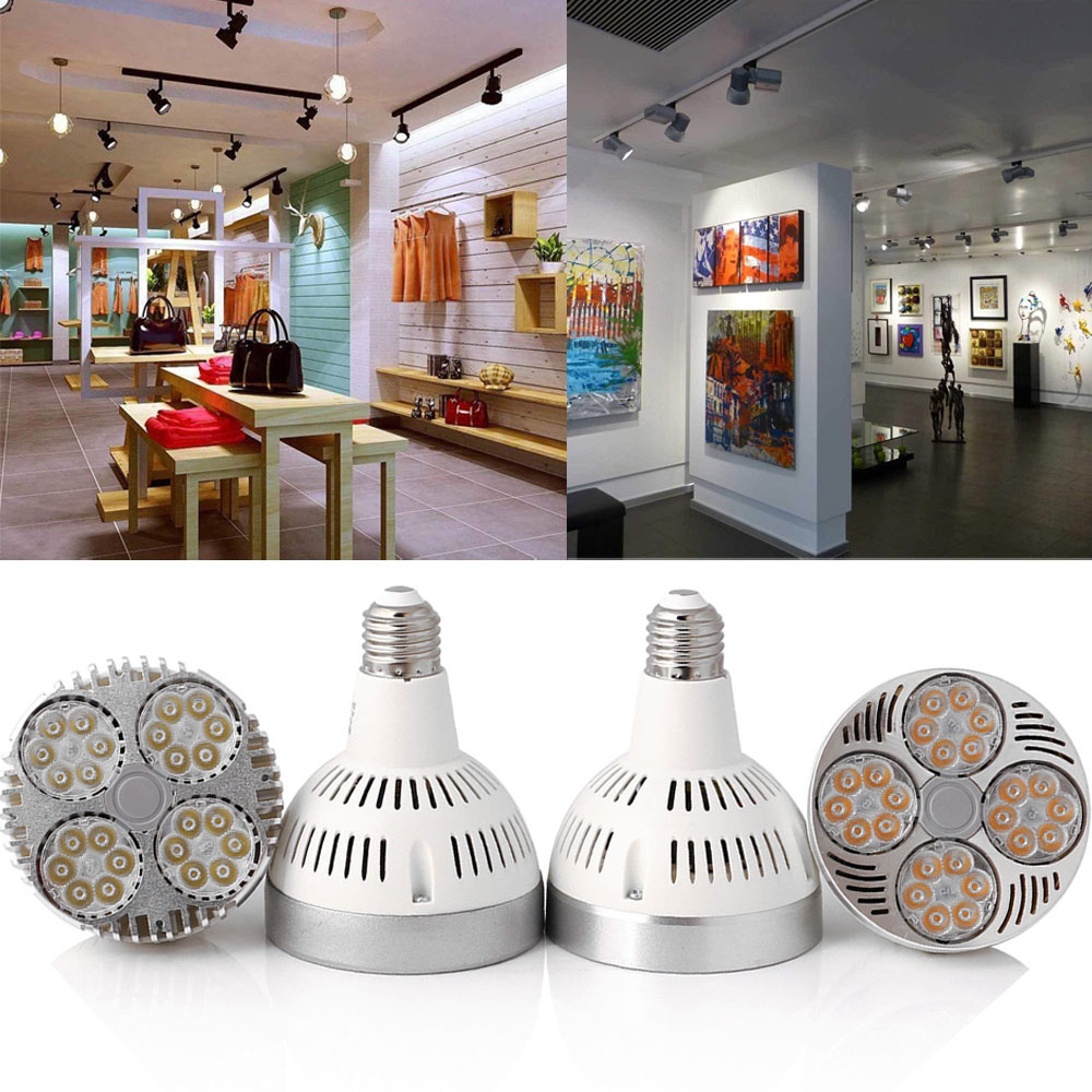 <font><b>PAR30</b></font> LED Bulb Spot Light <font><b>E27</b></font> 35W 45W LED Lighting Lamp Warm /Natural /Cold White Aluminum 110V 220V Indoor Lights image