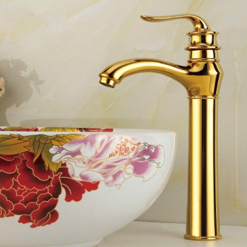 Импортируется из меди кран Европейский Античное золото одно отверстие холодной и горячей воды смеситель для умывальника цвета розового зо...