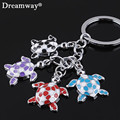 4 lovely turtles key chain factory promotion price animal keychains for keys jewelry keyring women bag charm drop shipping