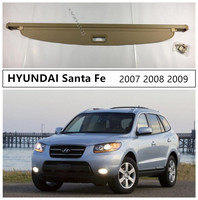 For HYUNDAI Santa Fe 2007 2008 2009 2010 Rear Trunk Cargo Cover Security Shield High Qualit Auto Accessories Black Beige