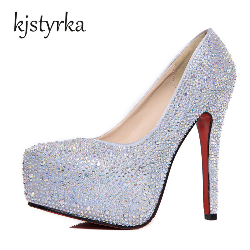 wedding shoes with bling kjstyrka women high heels prom wedding shoes 1138