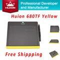 Продвижение HUION 680TF 8-дюймовый 220RPS Цифровой Графический Планшет Профессиональный Подпись Панель С SD Карты Дети Чертежной Доске Желтый