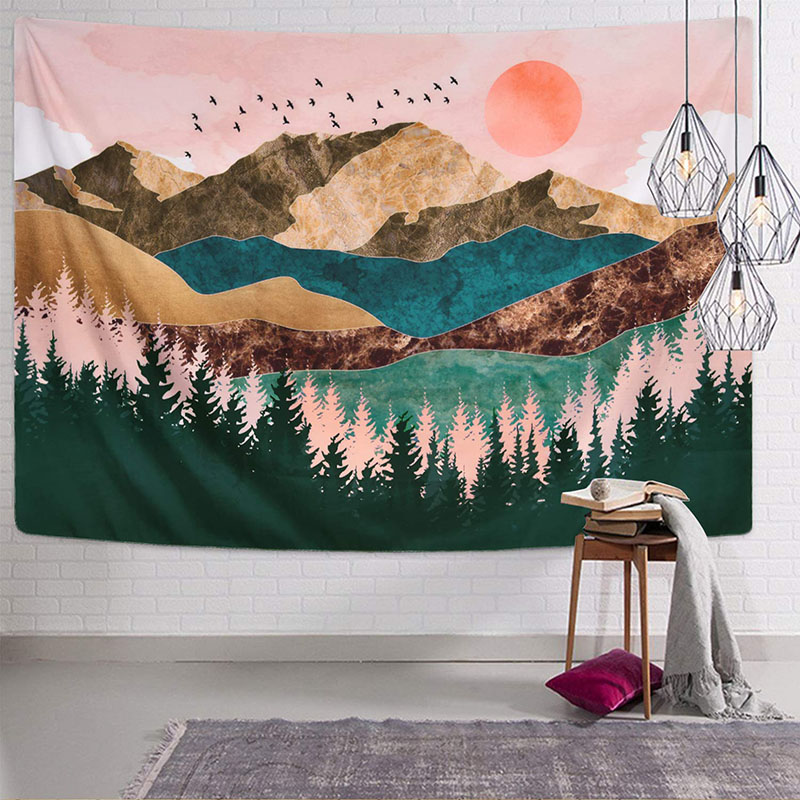 Mountain Forest Tree Tapestry…
