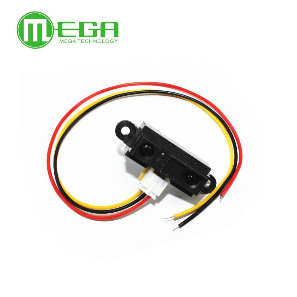 10pcs GP2Y0A21YK0F 2Y0A21 10 80cm Infrared distance sensor INCLUDING WIRES