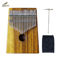 Gecko 17 Key Kalimba African Thumb Piano Finger Percussion Keyboard Kids Marimba Wood Multi Model Selection