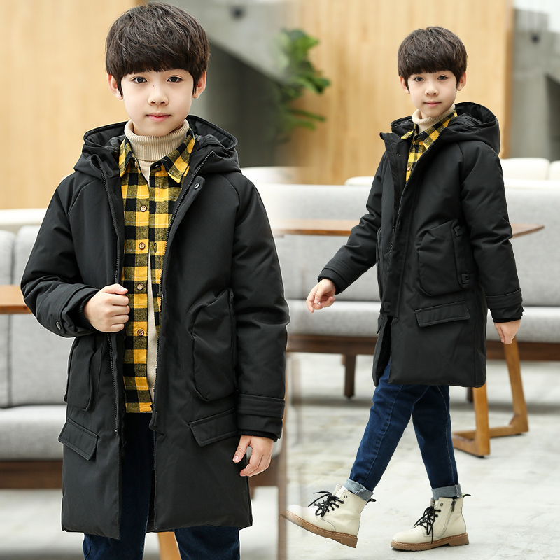Toddler Boys Down Christmas Jackets Boys Coats 2018 Boys Parkas Winter Long Thick Warm Cotton Down Jackets Hooded Kids Outwear 2017 new long hooded winter wadded parkas slim warm padded female jackets thick overcoat outwear winter cotton coats fp0025