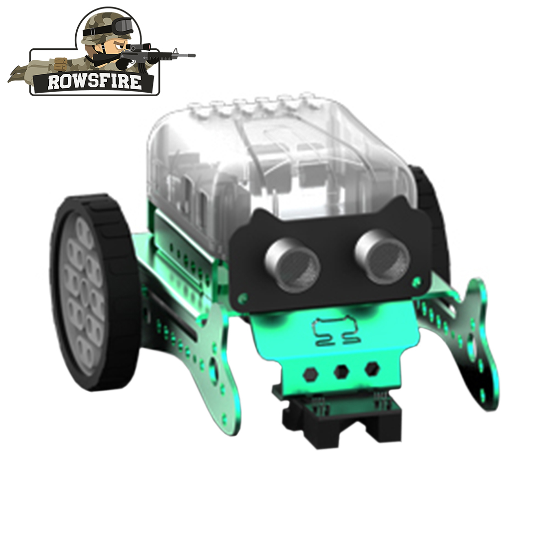 2019 New DIY Neo Programming Scratch Intelligent Obstacle Avoidance Car Robot Kit Toys Games- Red/Green