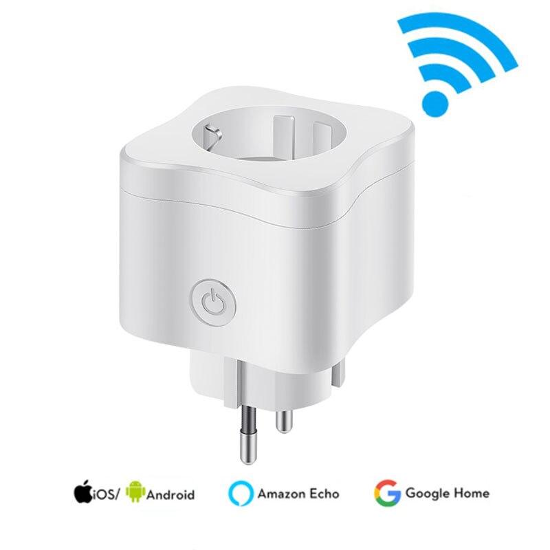 WI-FI умная розетка 220 V 10A удаленного Управление умный выбор времени штепсельная вилка стандарта ЕС работать для Amazon Alexa/Google помощник