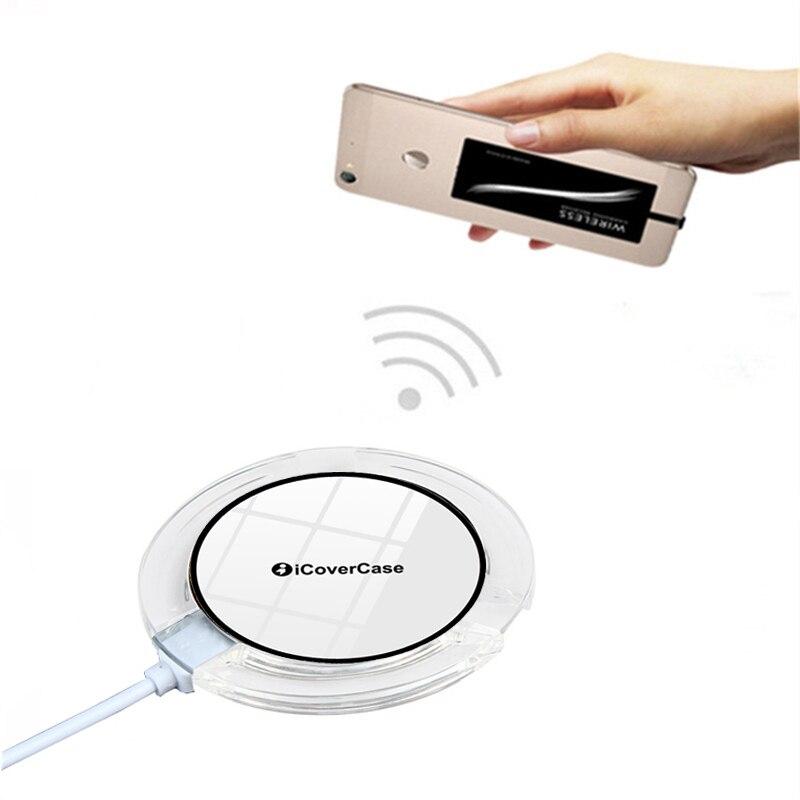 5 v Qi Energia Sem Fio do Carregador Pad Para Samsung Galaxy J3 J5 J7 2016 2017 Banco Do Poder de Carregamento Sem Fio Receiver e Cobrir Caso Capa