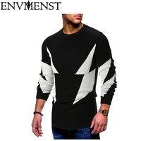 Env Для мужчин st осень-зима Для мужчин свитера 2 цвета лоскутное трикотажный пуловер свитер человека о-образным вырезом тонкий трикотаж пулов...