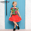Candydoll 2016 Kids Girls T-shirt and short sleeved T-shirt printing Tong explosion
