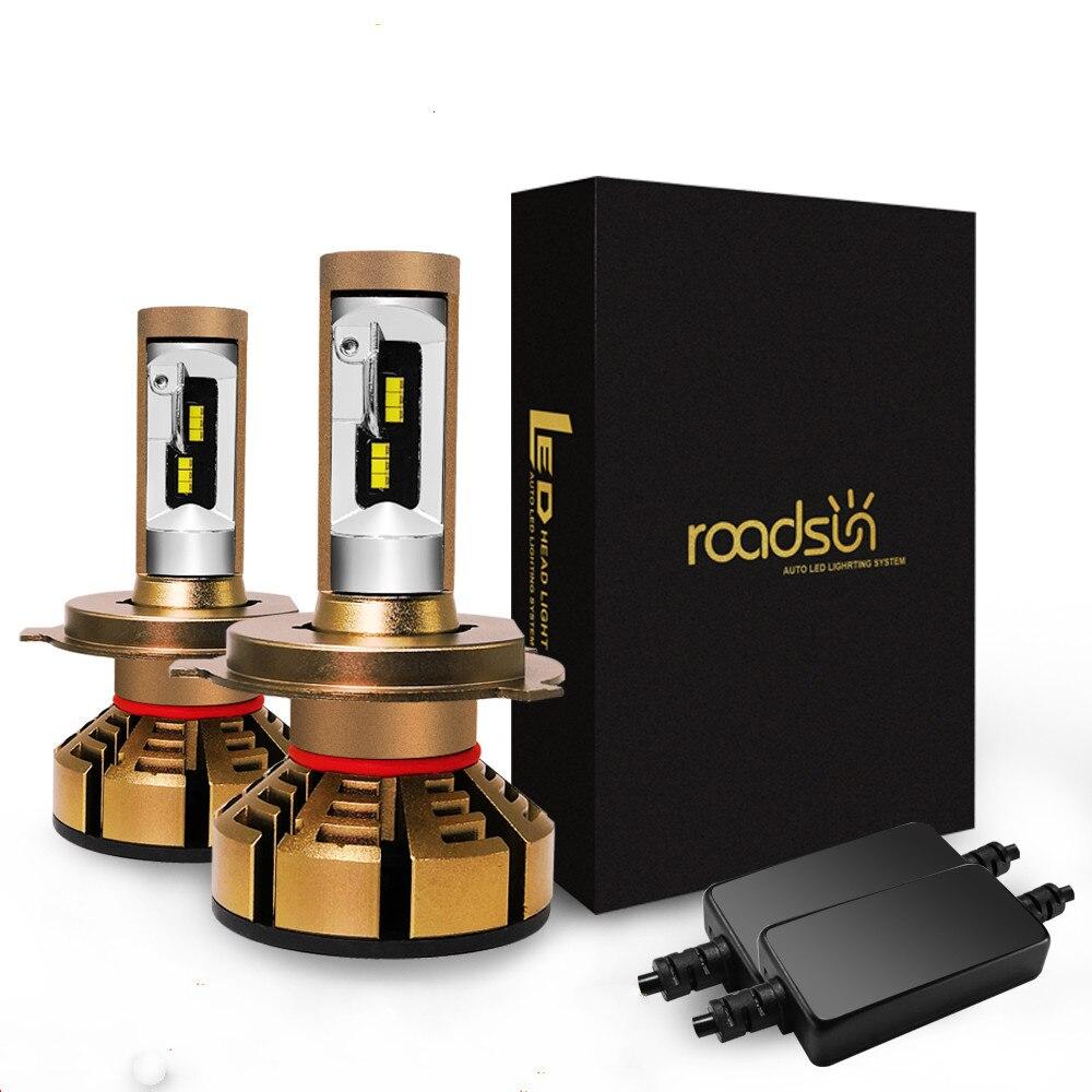 Roadsun H7 LED H4 Avec Lumi LED s Luxeon ZES Puces phare LED H1 LED H11 9006 HB4 9005 HB3 Lampe 6000 K 12 V 12000LM Pour Auto