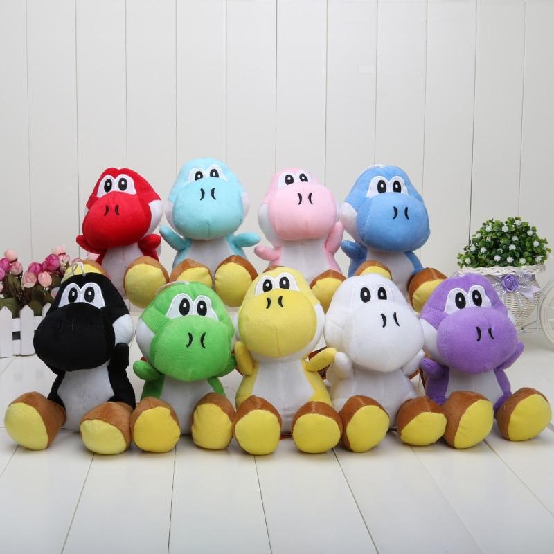 9pcs/set 17CM 9colors Super Mario Bros plush Yoshi Stuffed toys Dolls for childrens christmas gift