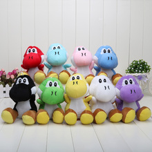 9pcs/set 17CM 9colors Super Mario Bros plush Yoshi Stuffed toys Dolls for childrens christmas gift