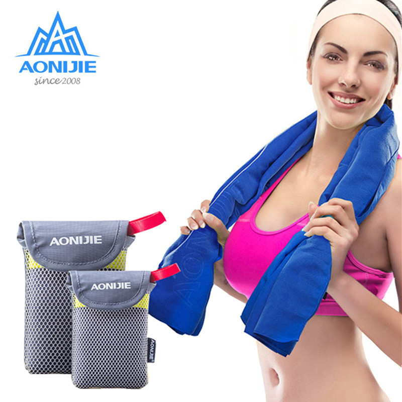 Aspiring Aonijie Microfiber Travel Towel With Mesh Bag,women Men Quick Dry High Performance Towels For Gym,fitness,camping,yoga,bath Office & School Supplies