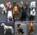 10pcs/LOT 5.5-7CM High quality cute PVC Simulation dogs doll animals action figure set Best kid toys
