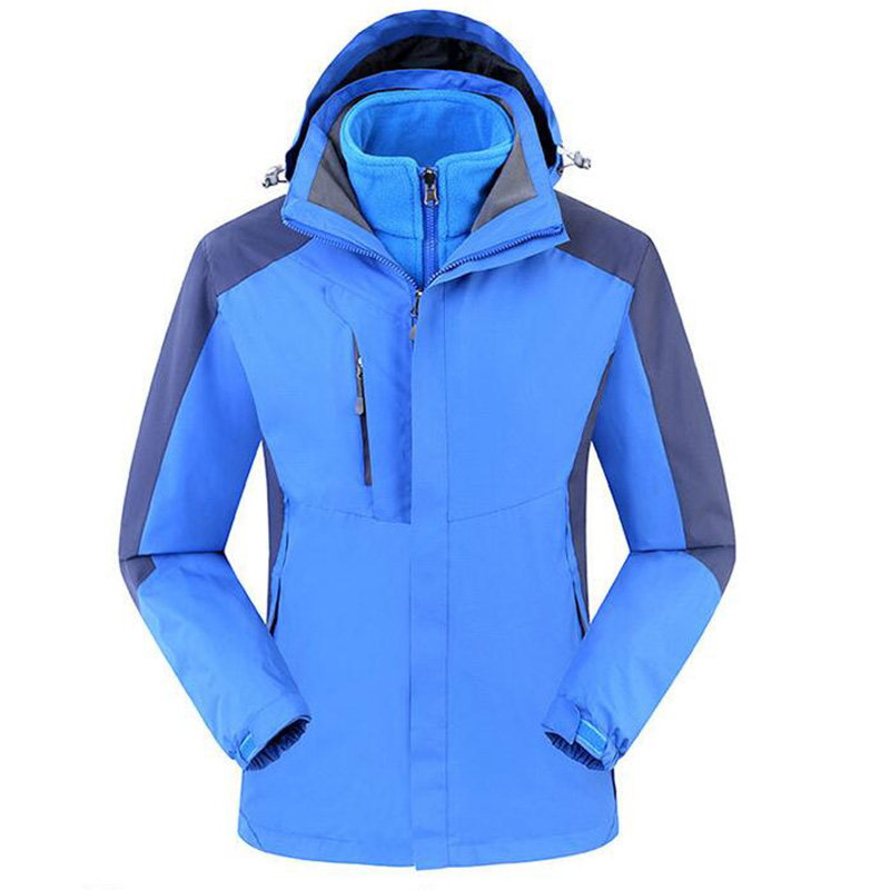 Outdoor men women two piece thickened autumn winter waterproof breathable jacket thermal windbreaker camping hiking jacket coat winter jacket for men outdoor hiking camping sports windbreaker jackets waterproof coat female