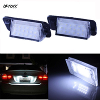 2x High Power Error Free 18 SMD 3528 SMD LED License Plate Light Lamp For BMW