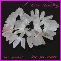 Strand 16 Natural Stone Pendant Beads For DIY Necklace And Bracalet Irregular Shape Gem Qurzy Beads
