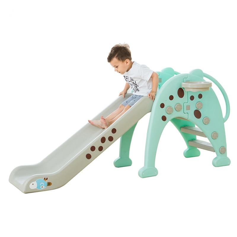 Plastic Kids Play Slide Lengthened Ladder Children Play Game Room Sports Slide Indoor Outdoor Sports Toys Set Children Slide plastic slide for kids foldable children indoor sliding