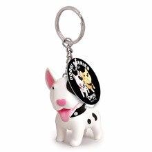 Semk Design 1Pc Dog Keychain Versatile Rubber Keyrings For Women Girls